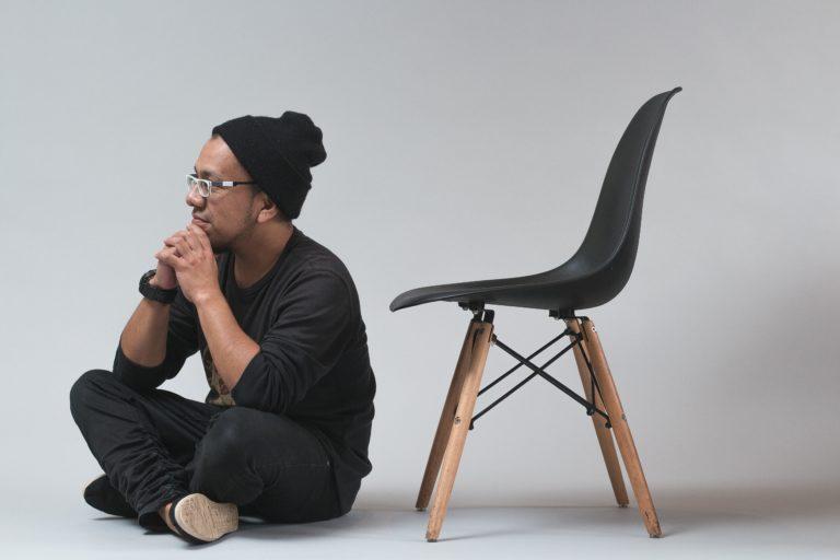 Man sitting and thinking carefully